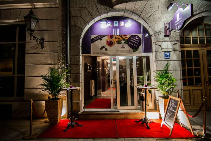 Eingang Lebenslust Restaurant
